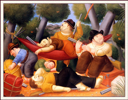 Fernando Botero. Guerrillas Eliseo Velázquez