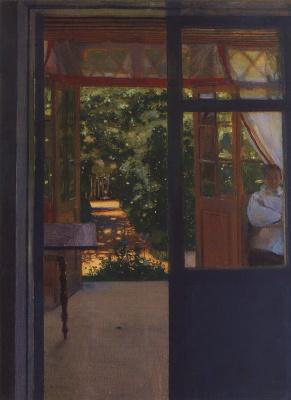 Константин Андреевич Сомов. На балконе