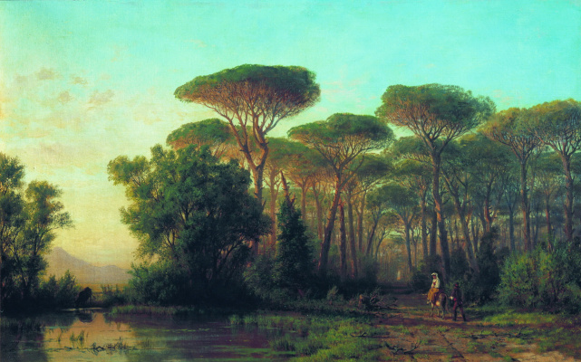 Lev Feliksovich Lagorio. The road among the pines