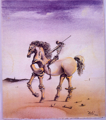 Salvador Dali. Metaphysical rider