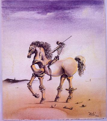 Salvador Dali. Metaphysical rider