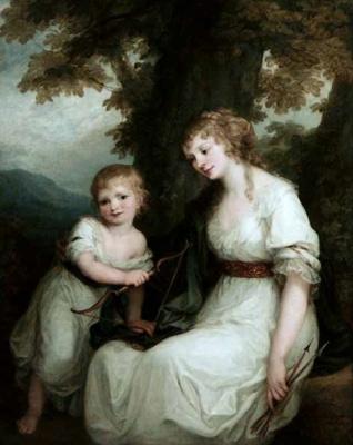 Ангелика Кауфман. Баронесса фон Крюденер с сыном Полем