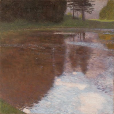 Gustav Klimt. Morning on the pond in the Park of Kammer Palace