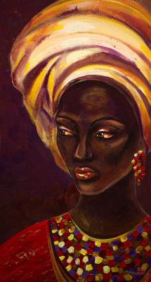 "Alla Struchayeva. The painting ""The Look of Isabella"""