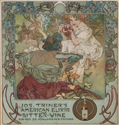 "Alphonse Mucha. Advertising ""Angelica Bitter"""