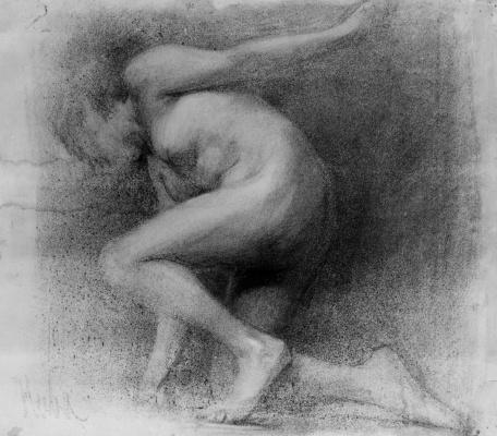 Anton Azhbe. Leaning nude
