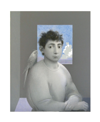 Sergey Konstantinov. Boy with bird