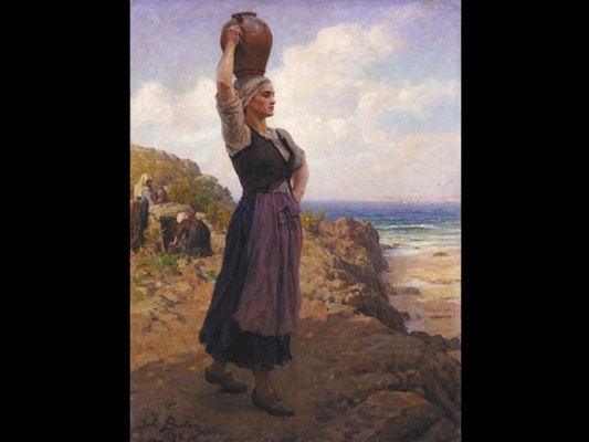 Jules Breton. The sea