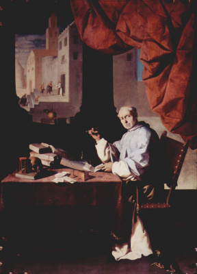 Francisco de Zurbaran. Portrait of brother Gonzalo de Illescas