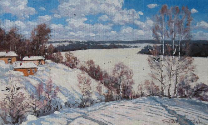 Alexander Nikolaevich Bezrodny. February.Sunny day