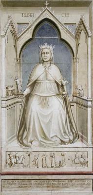 Giotto di Bondone. Justice. Seven virtues