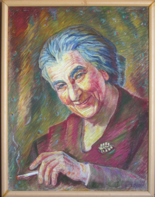 Boris Braynin. Golda Meir