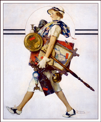 Norman Rockwell. Hunter Antiques