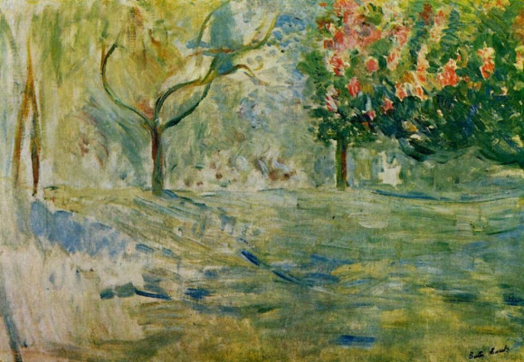 Berthe Morisot. The road to the Bois de Boulogne in the spring