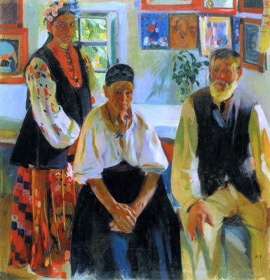 Александр Александрович Мурашко. Сельская семья