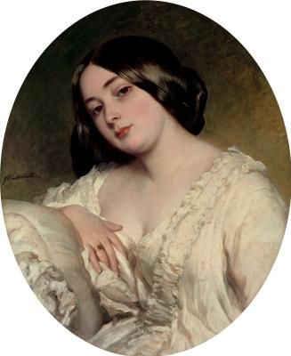 Franz Xaver Winterhalter. Portrait of a young woman