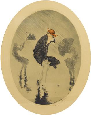 Icarus Louis France 1888 - 1950. Rain. 1925