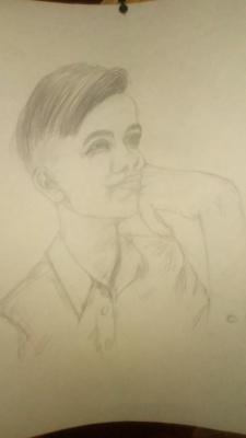 Julia Alekseevna Ovcharenko. Portrait of son