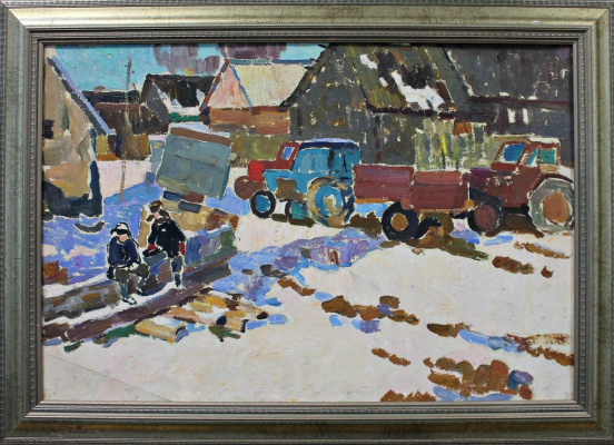 Petr Filippovich Alberti. Winter in the village