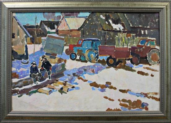 Petr Filippovich Alberti. Winter in the village