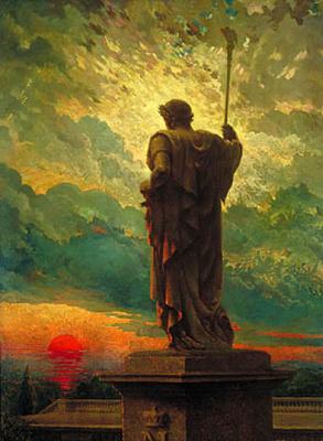 Джеймс Кэрролл Беквит. Статуя на закате