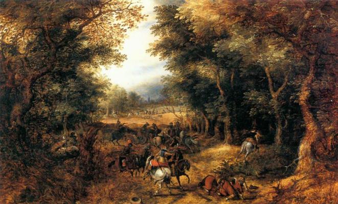 Дэвид Винкбумс. Всадники в лесу