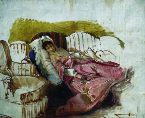 Илья Ефимович Репин. На диване. Этюд
