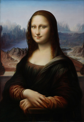 Sushienok64 @ mail.ru Mikhailovich Sushenok Igor. Mona Lisa. Copy from Leonardo.