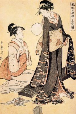 Kitagawa Utamaro. Sparrow Yoshiwara