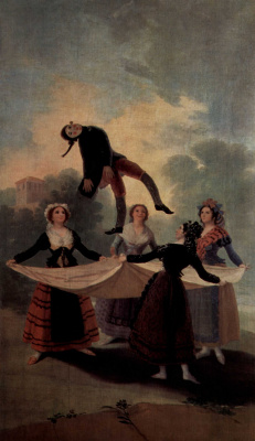 Francisco Goya. The sketches for tapestries for the Royal palaces, the Prado and the Escorial. Puppet