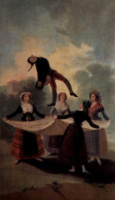 Франсиско Гойя. Эскизы гобеленов для королевских дворцов Прадо и Эскориал. Марионетка