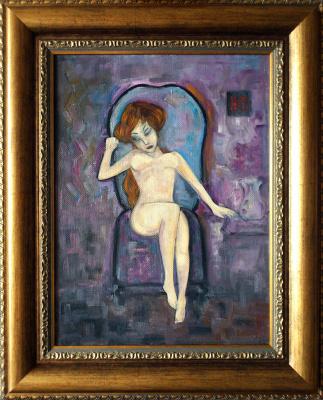 Igor Veniaminovich Bondarenko. Naked in a chair