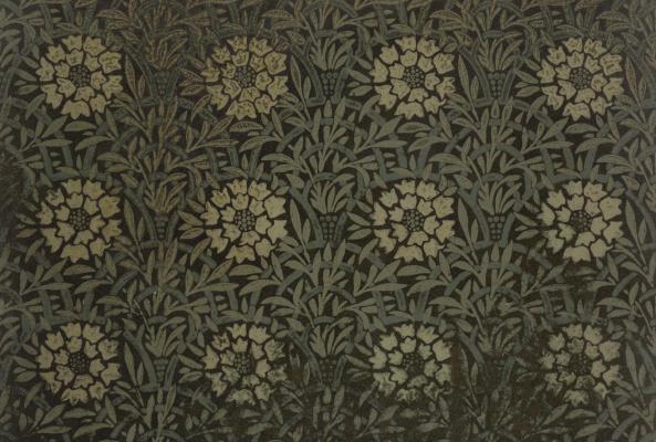 William Morris. Flower shelter: marigolds on the fence