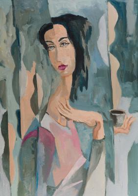Igor Sapunkov. With a cup of coffee