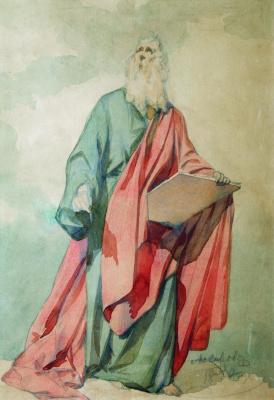 Иван Кузьмич Макаров. Евангелист Матфей. 1850 Этюд