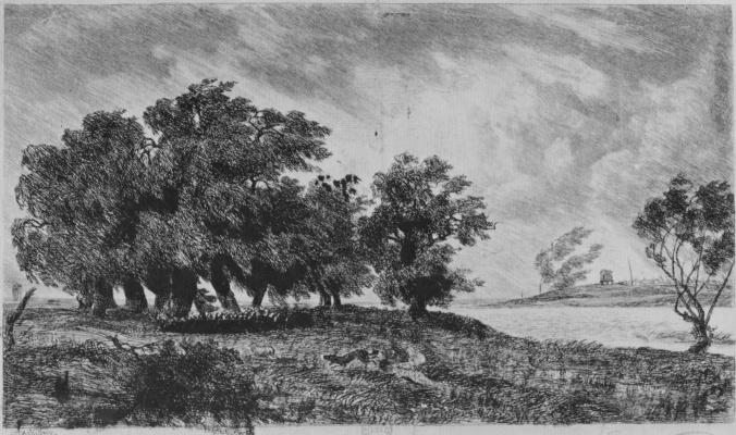 Charles-Francois Daubigny. The storm