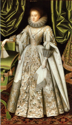 William Larkin. Portrait of Anne Cecil, Countess of Stamford