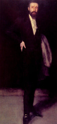 James Abbot McNeill Whistler. Arrangement in black: Portrait of F. R. Leyland