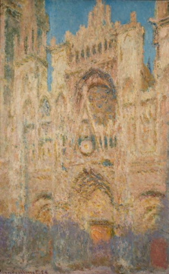 Claude Monet. Rouen Cathedral in the evening