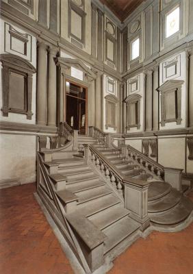 Michelangelo Buonarroti. Vestibule Of The Laurentian