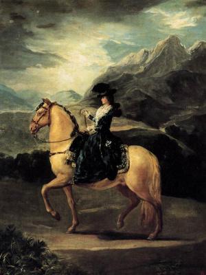 Франсиско Гойя. Портрет Марии Терезы де Валлабриг на коне