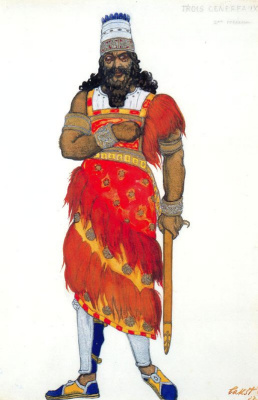 Lev Samoilovich Bakst (Leon Bakst). Costume design for the Opera Judith
