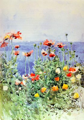 Childe Hassam. Poppies on the Isle of shoals