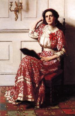 Томас Поллок Аншутц. Женщина с веером