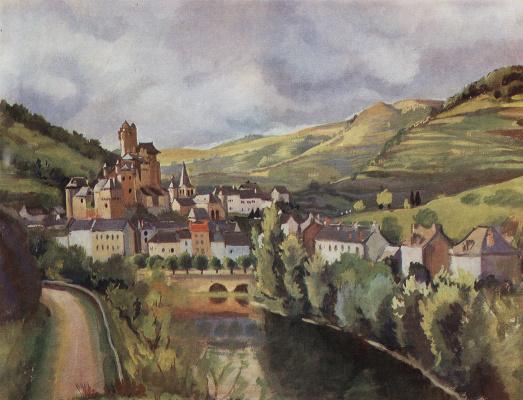 Zinaida Serebryakova. The Auvergne. The Town Acting