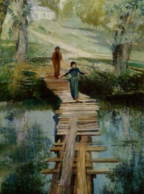 Yuri Ivanovich Pimenov. Girl and bridge