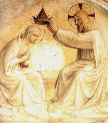 Fra Beato Angelico. The Crowning of Mary Fragment of fresco of the monastery of San Marco, Florence