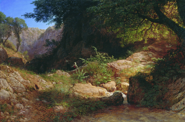 Lev Feliksovich Lagorio. Mountain views in Italy
