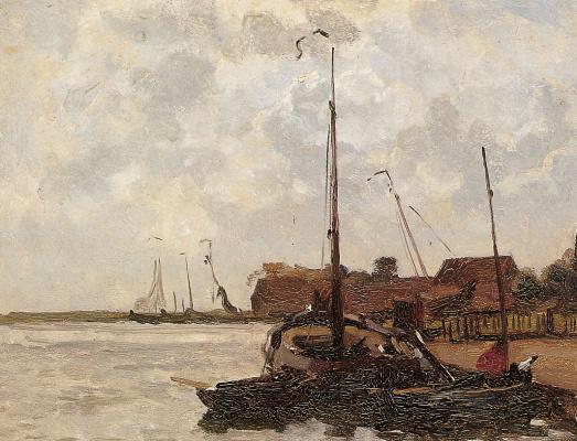 Виллем Толен. Вид на реку