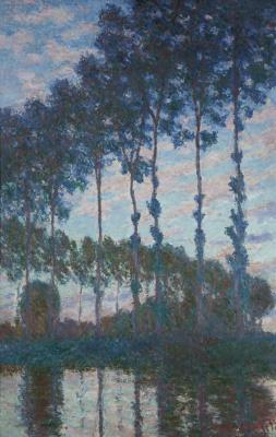 Claude Monet. Poplars along Apte evening